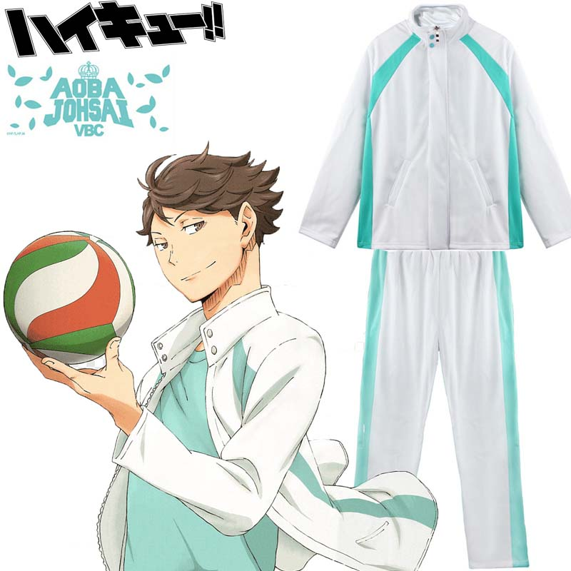 New! Haikyū!! Haikyuu Seijoh Aobajohsai Aoba Johsai High Oikawa Unisex Cosplay Volleyball Training Uniform Set