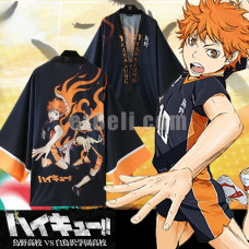 New! Anime Haikyuu!!  Karasuno High School Volleyball Club Chiffon Pajamas Cloaks Hinata Shyouyou Casual Cosplay Yukata Kimono Coat Bathrobes