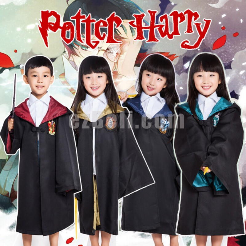 New! Harry Potter Child Robe Deluxe Cosplay Costume