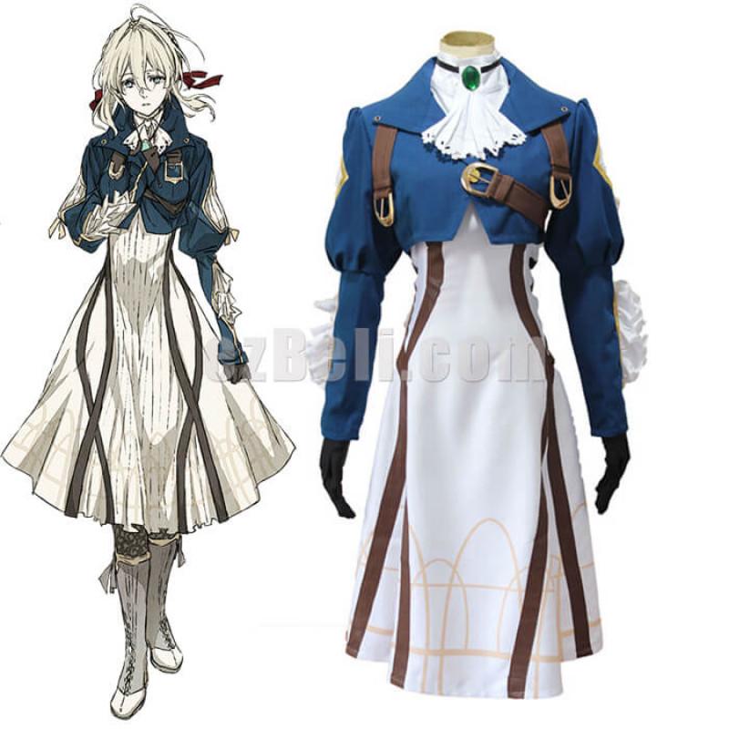 New! Anime Violet Evergarden Violet Evergarden Cosplay Dress Costume
