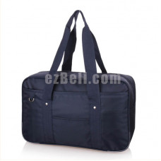 New! Popular Japanese Student School Bag Backpack Navy Blue Straps Bag