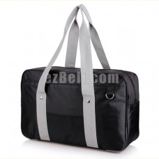 New! Popular Japanese Student School Bag Backpack Black Bag with Grey Straps