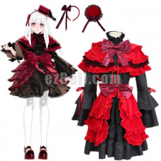 New! Anime K Project K Return of Kings Kushina Anna Red and Black Gothic Lolita Cosplay Costume Dress Generation 1