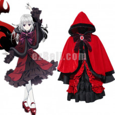 New! Anime K Project K Return of Kings Kushina Anna Red and Black Gothic Lolita Cosplay Costume Dress Generation 2