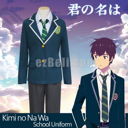 Kimi no Na wa Tachibana Taki Your Name Anime Costume Cosplay Wig Cap FreeTrack