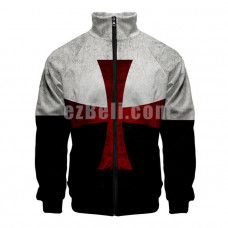 New! Adult Medieval Templar Knight Crusader Cross Medieval Sweatshirt Baseball Jacket