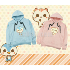 New! Korean Cute Cat Penguin Kawaii Peach Pink Hoodies Sweatshirts