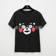 New! Kumamon Short Sleeves Casual T-Shirt