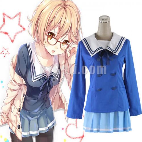 Beyond the Boundary Mirai Kuriyama Ayi Ai Shindo School Uniform Cosplay Costumes