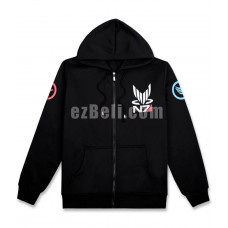 New! Game Mass Effect N7 Black Hoodie Casual Cosplay Costume Type 2