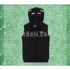 New! Minecraft Enderman Black Sleeveless Hoodie Vest