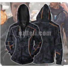 New! Movie Avengers Infinity War Iron Man Tony Stark Unisex Zip Up Hoodie Casual Cosplay Sweatshirt Jacket