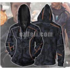 New! Movie Avengers Infinity War Iron Man Tony Stark Unisex Zip Up Hoodie Casual Cosplay Sweatshirt Jacket