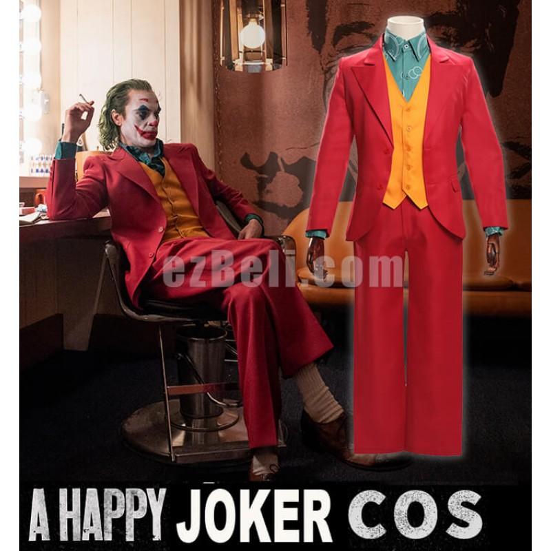 New! Movie Joker Arthur Fleck The Joker 2019 Costume Red Suit Cosplay Costume