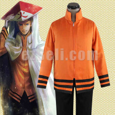 New! Naruto Uzumaki Hokage Attire Cosplay Jacket