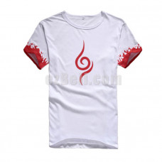 New! Naruto White Short Sleeves Casual Cosplay Cotton T-Shirt