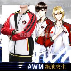 New! Online Novel AWM PUBG Cosplay Costume Hoodie Jacket Women Men