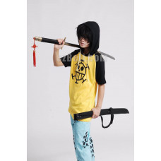 New! One Piece Trafalgar Law Short Sleeve Hoodie T-shirt