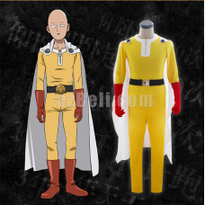 New! One punch man Saitama Cosplay Costume