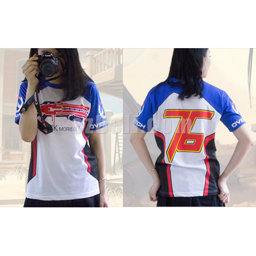 b57f7256aef Game Overwatch D.VA Tracer Mccree Soldier76 Angel Short Sleeves T-shirt ...
