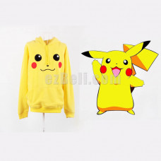 New! Cute Yellow Pikachu Hoodie Jacket