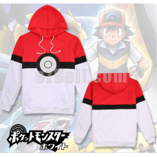 New! Pokemon Pokeball Hoodie Jacket