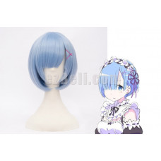 New! Re:Zero Life In A Different World From Zero Rem Blue Cosplay Wig Type B