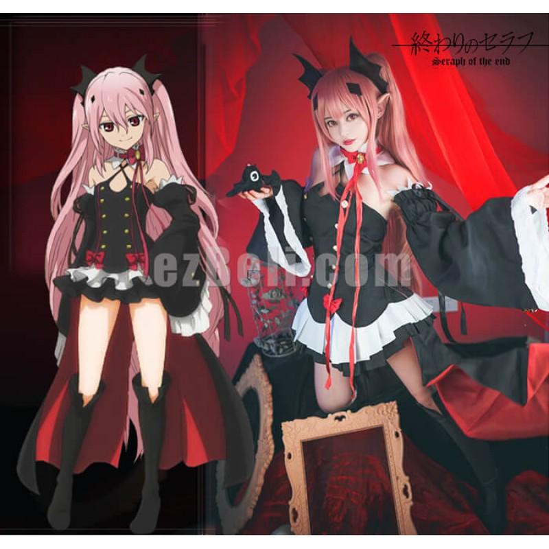 New! Seraph Of The End Owari no Seraph Krul Tepes Vampire Dress Cosplay Costume