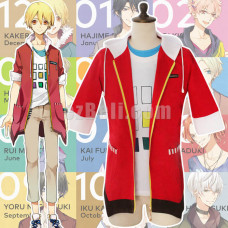 New! Tsukiuta Shiwasu Kakeru Red Jacket Cosplay Costume