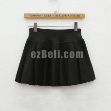 New! Pleated Short Black Cosplay Skirt