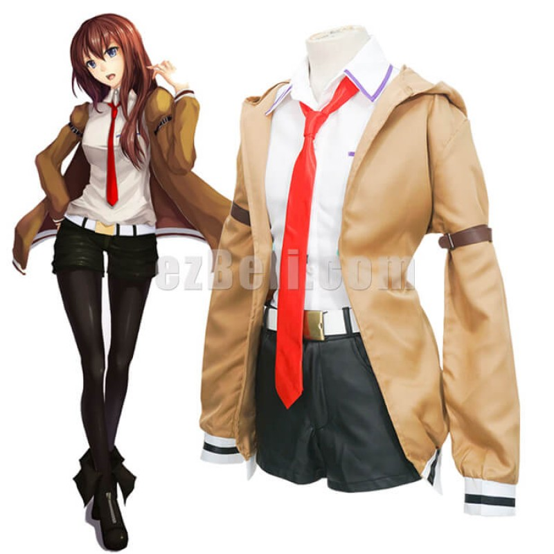 New! Game Steins Gate Makise Kurisu Cosplay Costume Full Set Christina Uniform