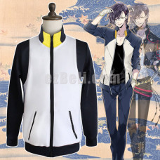 New! Touken Ranbu Akashi Kuniyuki Long Sleeves Casual Stylish Jacket