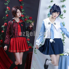 New! Anime Official Original Touken Ranbu Online Games Wild Dance of Swords JK School Uniform Sailor Suits Tops Skirt Outfits