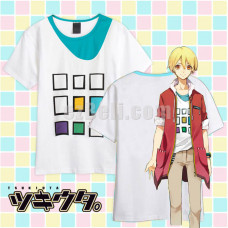 New! Tsukiuta Shiwasu Kakeru Printed Short Sleeves T-shirt Cosplay Costume