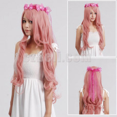 New! Vocaloid Megurine Luka Ruka Pink Curl Long Cosplay Wig