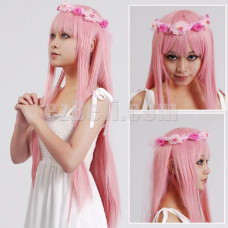 New! Vocaloid Megurine Luka Ruka Pink Straight Long Cosplay Wig