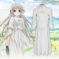 New! Yosuga no Sora Kasugano Sora White Lolita Dress Cosplay Costumes