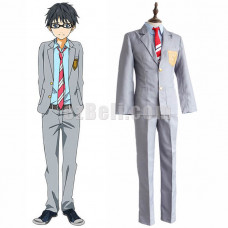 New! Your Lie In April Kousei Arima Kosei Arima School Uniform Cosplay Costume