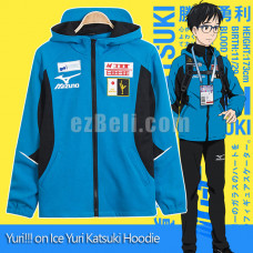 New! Yuri!!! on Ice Katsuki Yuuri Sportswear Jacket Cosplay Costume