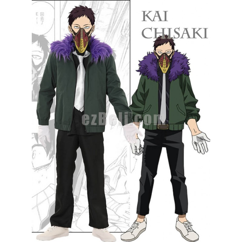 New! Anime My Hero Academia Boku no Hero Academia Kai Chisaki Cosplay Costume