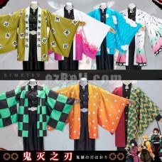 New! Anime Demon Slayer Kimetsu no Yaiba Tanjirou Kamado Tomioka Giyuu Zenitsu Agatsuma Kochou Shinobu Cloak Cosplay Costume