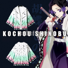 New! Anime Demon Slayer Kimetsu No Yaiba Kochou Shinobu Chiffon Pajamas Cloaks Casual Cosplay Yukata Kimono Coat Bathrobes