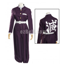 New! Anime Demon Slayer Kimetsu no Yaiba Black Uniform Cosplay Costume