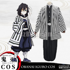 New! Anime Demon Slayer Kimetsu no Yaiba Obanai Iguro Cloak Cosplay Costume