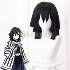 New! Anime Demon Slayer Kimetsu no Yaiba Obanai Iguro Snake Pillar Cosplay Wig