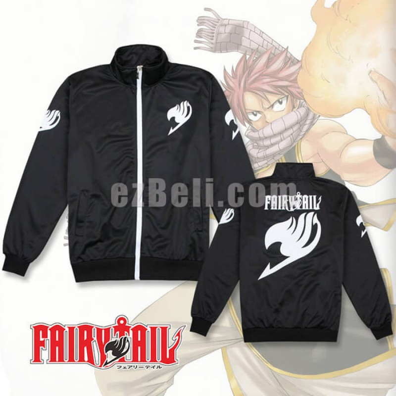 New! Anime Fairy Tail Black Long Sleeves Sport Casual Cosplay Jacket
