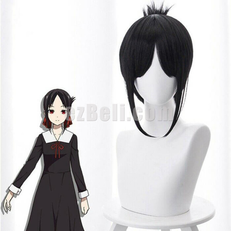 New! Anime Kaguya-sama: Love Is War Shinomiya Kaguya Black Short Cosplay Wig