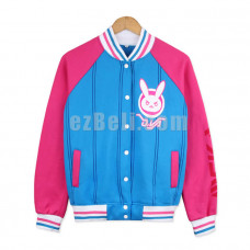 New! Game Overwatch D.VA DVA Casual Cosplay Baseball Jacket