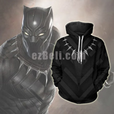 New! Movie Black Panther Unisex Hoodie Casual Cosplay Sweatshirt