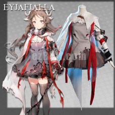 New! Game Arknights Eyjafjalla Dress Cosplay Costume